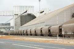 Grain Freight Train. In Australia Royalty Free Stock Image