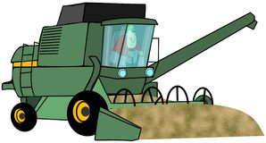 Grain Harvester royalty free illustration
