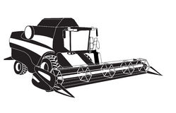Grain harvester combine. Vector illustration Stock Image