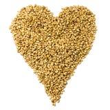 Grain heart Stock Images