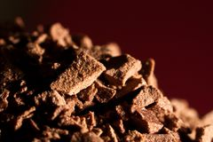 Grain of instant coffee Royalty Free Stock Photo