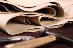 Grain leather Stock Image