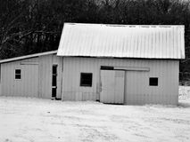 Grain of Life`s Pleasure. This is a old grainery building on a farm that is used to store food for cows,pigs,and Chickens and horses  that brings food to our Stock Photo