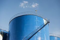 Grain metallic silo Stock Photo