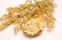 Grain oats and oatmeal Stock Photo