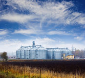 Grain and oil storage tanks Royalty Free Stock Photography