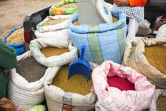 A grain packed in a bag Royalty Free Stock Image