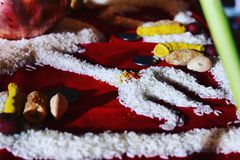 Grain rangoli royalty free stock images