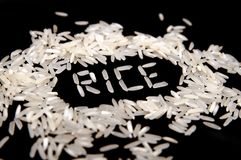 Grain of rice Stock Photo