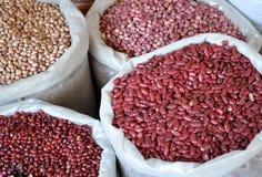 Grain in sacks Stock Photo