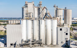 Grain Shipping Operation Stock Photo