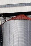 Grain silo. Abstract photo of a huge grain silo stock image