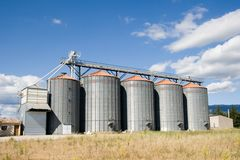 Grain Silo Stock Photo