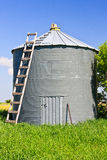 Grain Silo. Metal grain silo used to store grain and other farm crops royalty free stock images