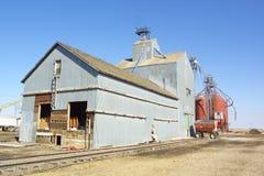 Grain Silo. A Grain Silo next to a set of railroad tracks Stock Image