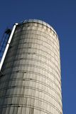 Grain Silo. A towering image of a grain silo in Wisconsin royalty free stock photo