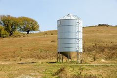 Grain Silo. A grain silo in a paddock on a farm in Central West New South Wales, Australia Royalty Free Stock Photo