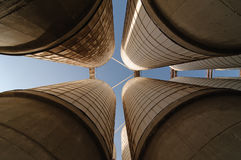 Grain silo royalty free stock photography