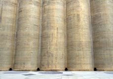 Grain Silo abstract close-up Royalty Free Stock Photography