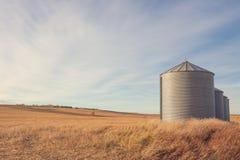 Grain Silo Autumn Landscape Stock Photos