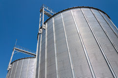 Grain silo containers detail Royalty Free Stock Photos