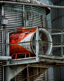 Grain Silo. Corn Silo in PA month of june on a raining day Stock Photos