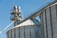 Grain silo facility Stock Image