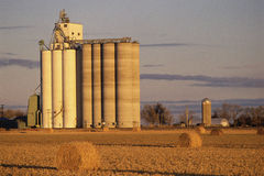 Grain Silo on Farm Royalty Free Stock Images