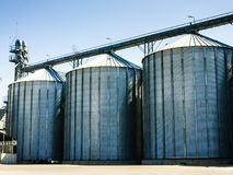 Grain silo industrial facility Stock Photo