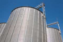 Grain silo industrial facility tower Royalty Free Stock Images