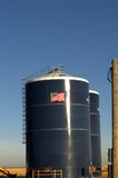 Grain Silo with painted flag Royalty Free Stock Image