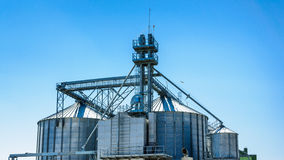 Grain silo storage Royalty Free Stock Images