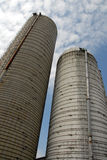 Grain Silos. On the Crow Farm in Kennedyville, Maryland Stock Photo