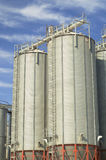 Grain silos Stock Photos