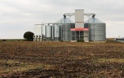 Grain silos. Large grain silos holding wheat royalty free stock photos