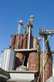 Grain Silos Stock Photo