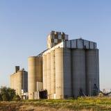Grain Silos. Concrete Grain silos in outback NSW, Australia Royalty Free Stock Photography