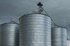 Grain Silos Royalty Free Stock Photography
