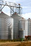 Grain Silos. On a farm in New South Wales, Australia stock photography
