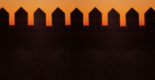 Grain silos. In silhouette Royalty Free Stock Images