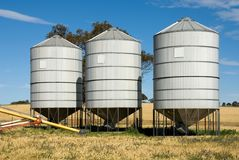 Grain Silos. In South-Western New South Wales, Australia royalty free stock image