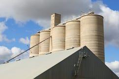 Grain Silos. Grain storage silos royalty free stock images