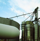 Grain Silos Against The Sky Royalty Free Stock Image