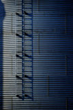 Grain Silos on Farm for Farming and Storage of Wheat Royalty Free Stock Images