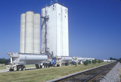 Grain silos in Hope, Arkansas Royalty Free Stock Photos