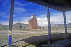 Grain Silos, Northern MT Stock Photo