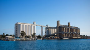 Grain Silos at Port Pirie royalty free stock photo