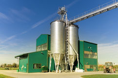 Grain silos Stock Photography