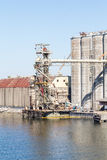 Grain Silos and Warehouse Stock Photography