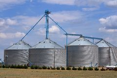 Grain Storage Royalty Free Stock Photos